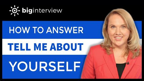 how to answer tell me about yourself youtube