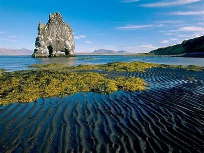 Nature Scenes Iceland Rock Bay Desktop Wallpapers