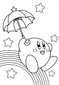 kirby coloring pages coloringpagesabccom