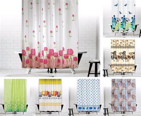 Waterproof Fabric Shower Curtain Extra Long
