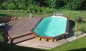 comment amenager les alentours de sa piscine semi enterree With terrasse piscine semi enterree 3 comment amenager les alentours de sa piscine semi enterree