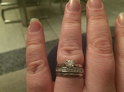 are my finger too fat for all 3 rings weddingbee