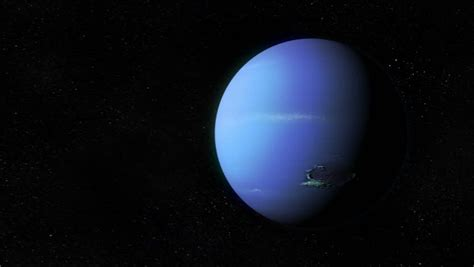 Voyager Passing By Planet Neptune Stock Footage Video