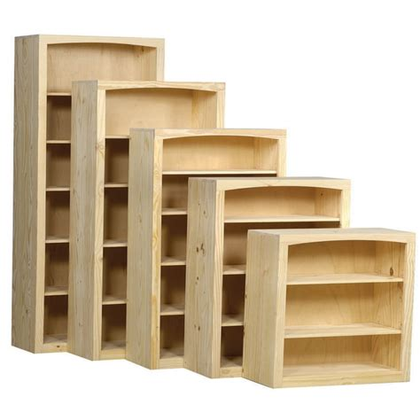Solid Wood Bookcases Unfinished by Arched Solid Pine Bookcase By Archbold