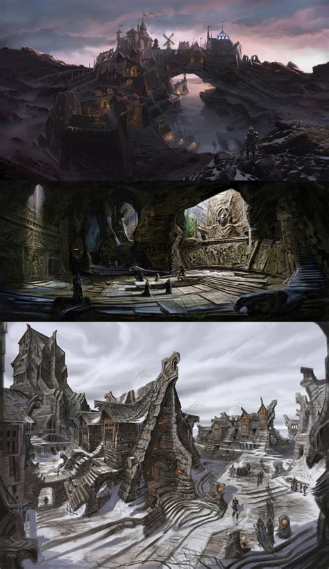 The Elder Scrolls V Skyrim Concept Art City Solitude