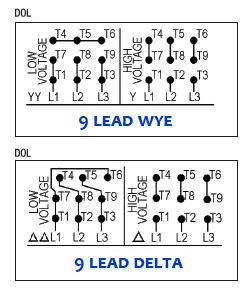 460 Volt 3 Phase 6 Lead Wiring Diagram by 12 Lead Motor Wiring Diagram Impremedia Net
