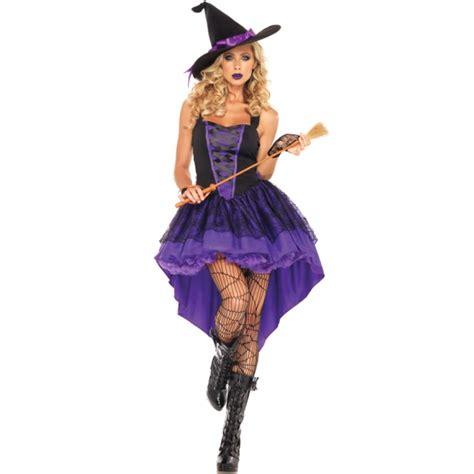 Costume sorciere violette - deguisement halloween femme