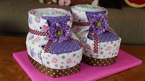 diaper cake baby booties    youtube