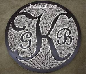 monogram initials family crest custom backsplash medallion With floor letters