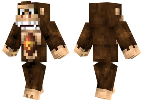 donkey kong minecraft skins