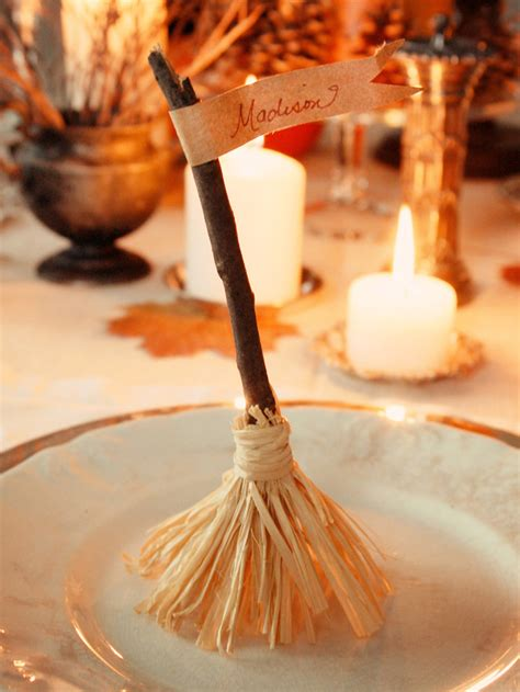 witch broomstick place cards pictures   images