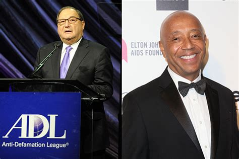 anti defamation league outraged  russell simmons
