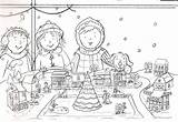Sketch Refugee Holiday Christmas Drawing Pages Coloring Postcard Template sketch template
