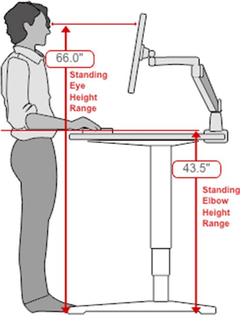 how tall should a standing desk be human solution standing desk height low end mac