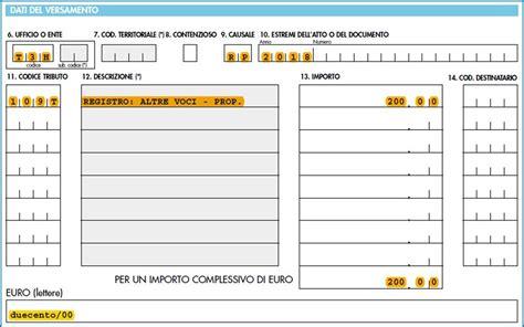 Ufficio O Ente F23 - modello f23 compilabile registrazione contratto di comodato
