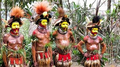 Huli Guinea Papua Tribe Pacific
