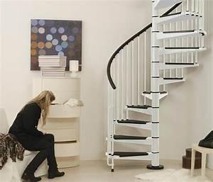 Escalier Colimaçon Pas Cher : escalier h lico dal ark civik en acier blanc et noir 140 cm ~ Premium-room.com Idées de Décoration