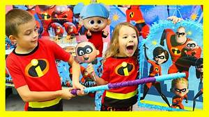 Incredibles 2 Movie BIRTHDAY Party For JACK JACK With ...
