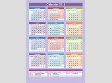 Get Free Printable Calendar Kuwait Holiday 2019 Template