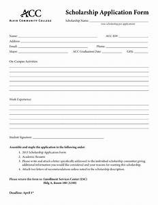 Application form basic application form template for Scholarship forms template