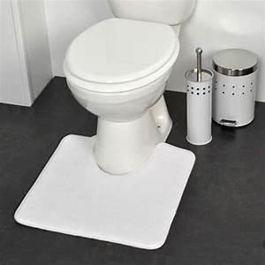 tapis contour wc design blanc eminza With tapis toilettes wc