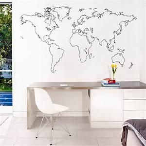 Carte Du Monde Deco Murale : sticker mural carte du monde decoration des murs des ~ Dailycaller-alerts.com Idées de Décoration