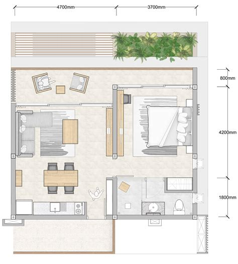 Bedroom Floor Plan by 1 Bedroom Floor Plan Bay Apartments By Bay Residence Koh