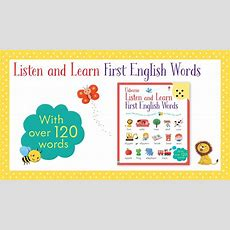 Listen And Learn First English Words  From Usborne Publishing Youtube