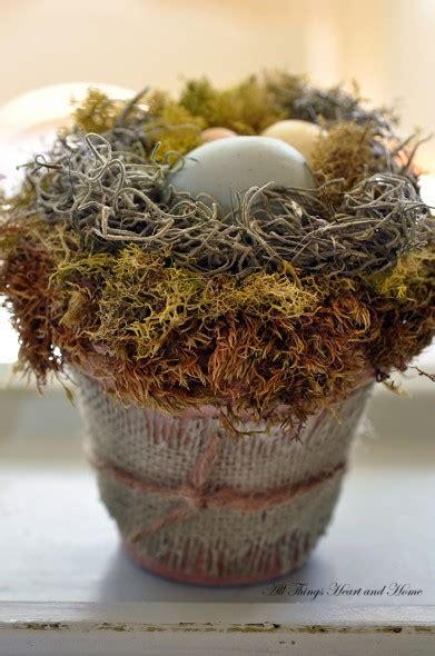 spring decorating  ideas  bird nest decor