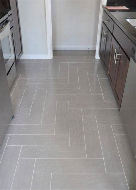 Kitchen Herringbone Tile Floor  Cabinet Hardware Room