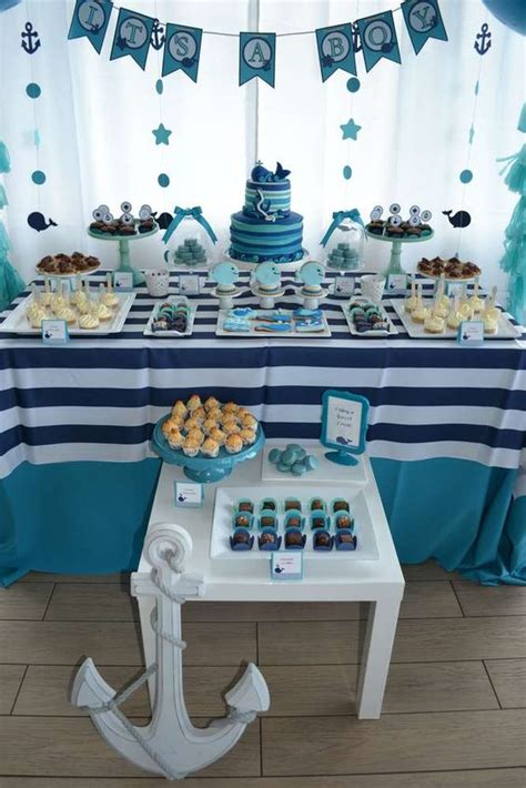 Tiffany Baby Shower Ideas by 35 Boy Baby Shower Decorations That Are Worth Trying