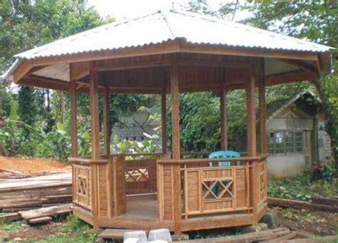contoh desain gazebo rumah minimalis modern sederhana
