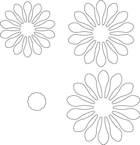 paper flower center template tags stacked flower the craft chop