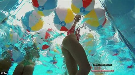 Outrage over voyeuristic swimming pool scene on The
