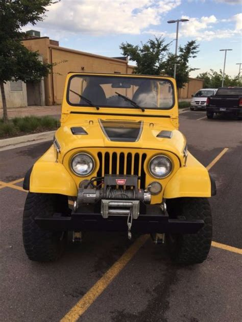 cj jeep yellow 1973 jeep cj5 renegade yellow amazing condition