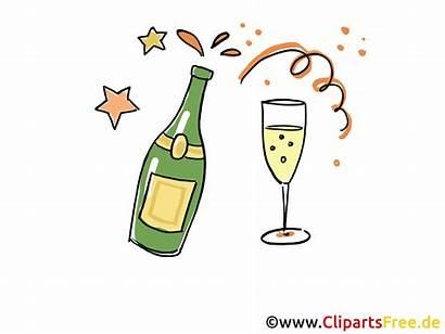Champagne Clipart Party Clip Gratuit Cliparts Anniversaire