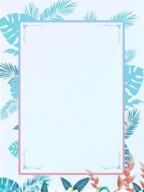 Border Background Images by Blue Leaves Border Invitation Background Design Blue