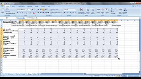 excel questionnaire how to analyze satisfaction survey data in excel with countif