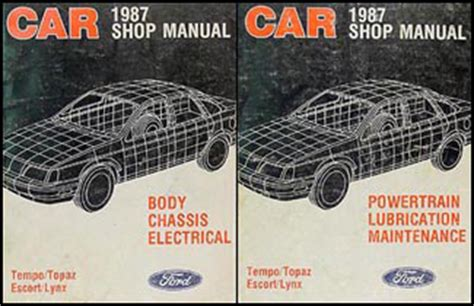 car engine repair manual 1987 ford tempo engine control 1987 ford tempo mercury topaz foldout wiring diagram 87