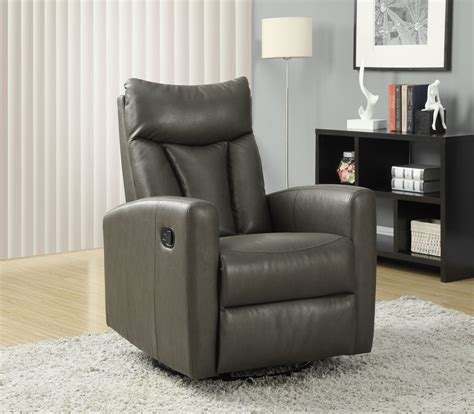 gray glider recliner charcoal gray swivel glider recliner 8087gy from monarch