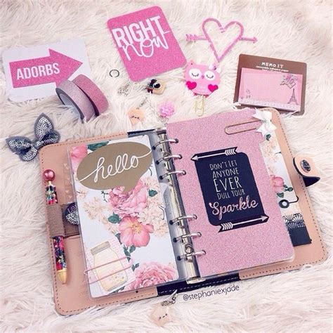 atgustlily girly   care cute planner
