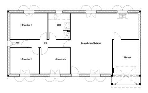 plan maison 1 chambre plan de chambre plan de chambre a4 cadre aluminium