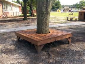 bench around a tree the owner builder network