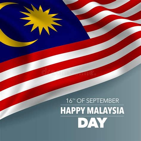 Happy Malaysia day greeting card, banner, vector ...