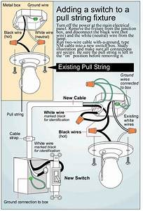 How To Wire A Pull Cord Light Switch Diagram