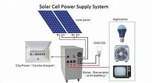 Solar Cell Power Supply System Circuit Diagram