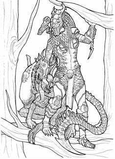 Alien Vs Predator Coloring Pages 10 | Free Printable