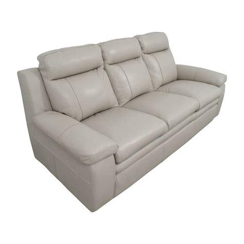 67 Off Macys Macys Zane White Leather Sofa Sofas