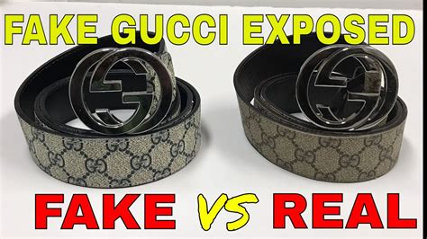 How To Expose Fake Gucci Belt