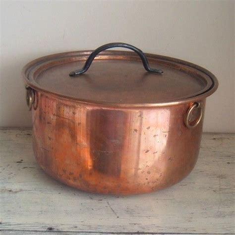 vintage copper stock pot etsy vintage copper copper copper kitchen